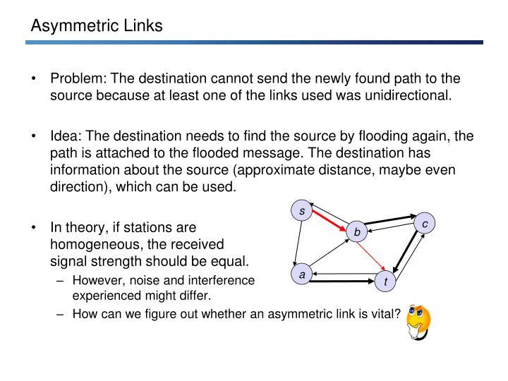Asymmetric Links
