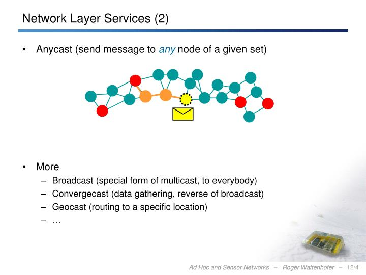 Network Layer Services (2)