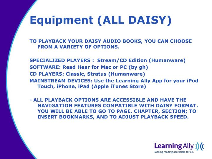 Equipment (ALL DAISY)