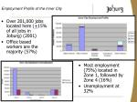 employment profile of the inner city
