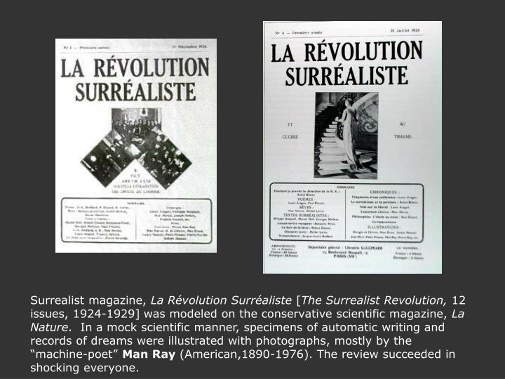 Surrealist magazine,