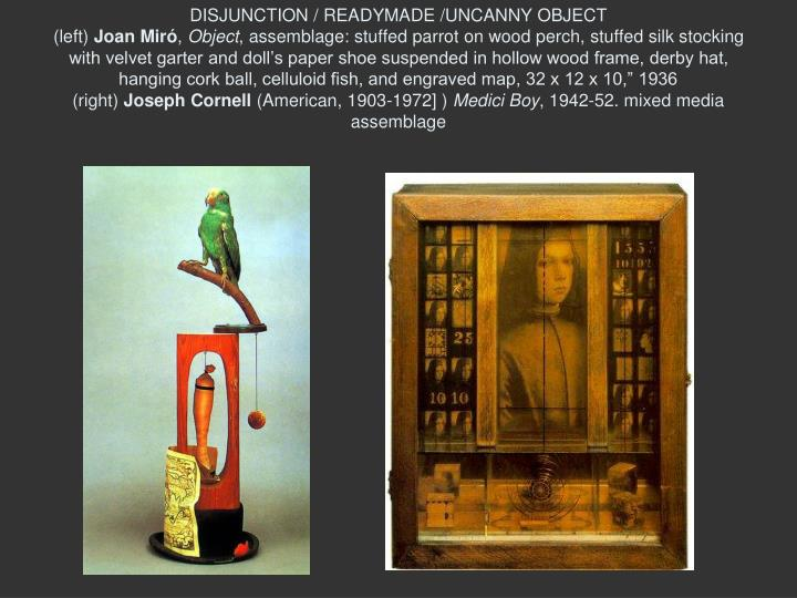 DISJUNCTION / READYMADE /UNCANNY OBJECT