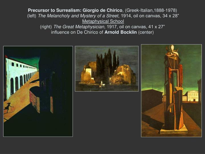 Precursor to Surrealism: Giorgio de Chirico