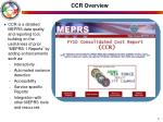 ccr overview
