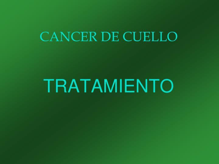CANCER DE CUELLO