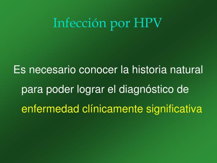 Infección por HPV