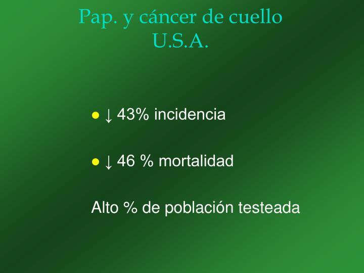 Pap. y cáncer de cuello