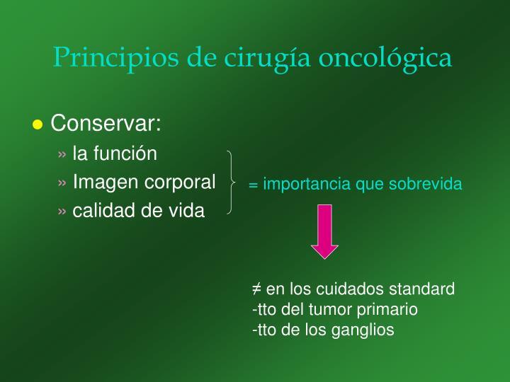Principios de cirugía oncológica