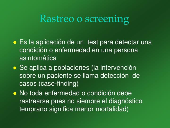 Rastreo o screening