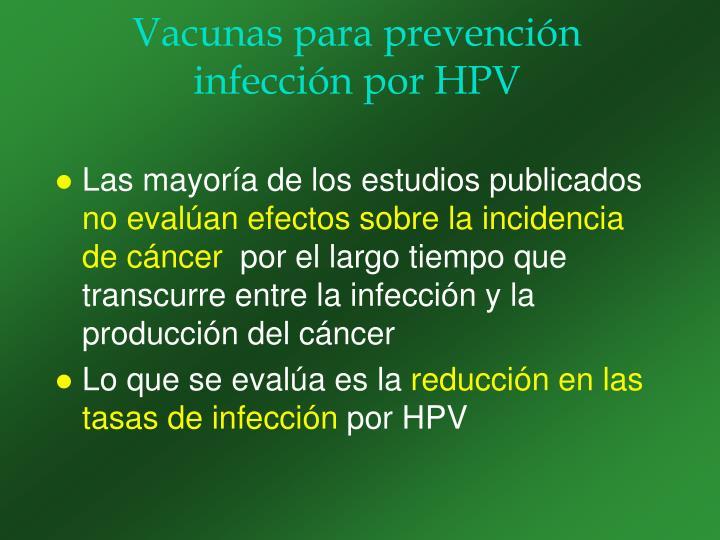 Vacunas para prevención infección por HPV