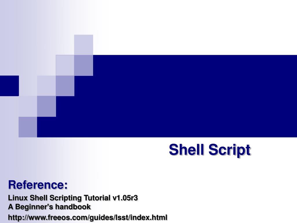 Shell tutorial.