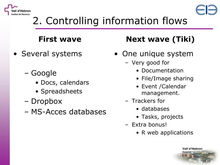 2. Controlling information flows