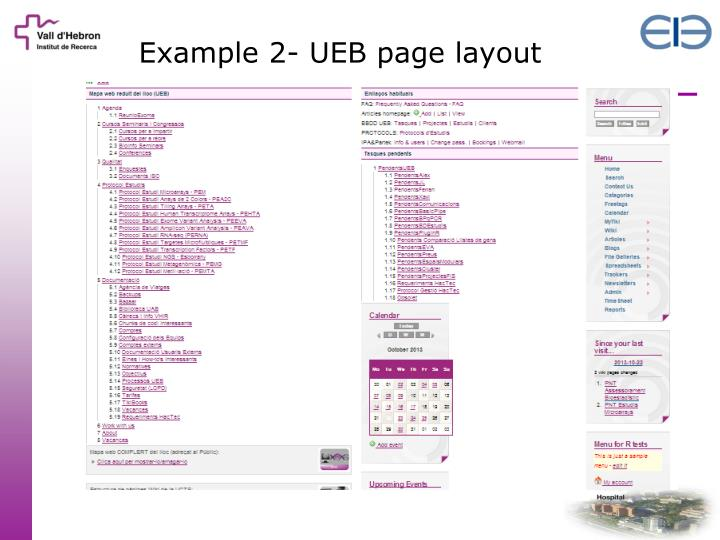 Example 2- UEB page layout