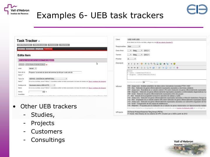 Examples 6- UEB task trackers