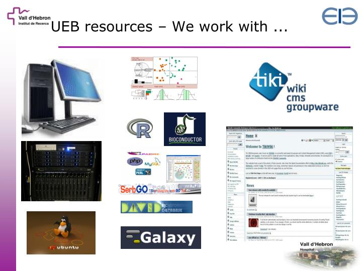 UEB resources – We work with ...