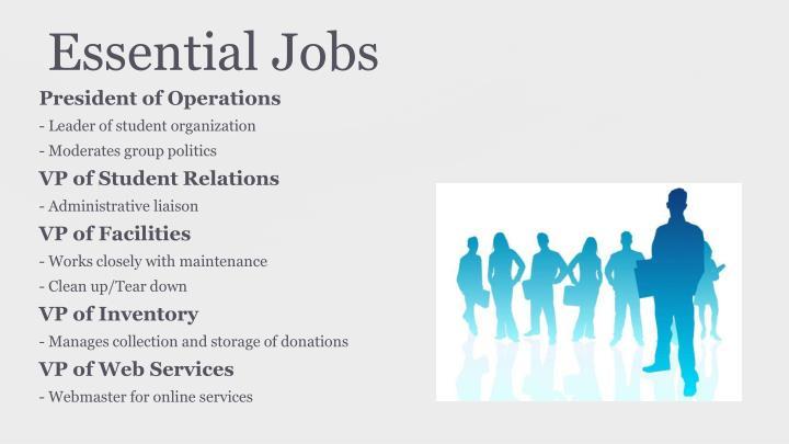 Essential Jobs