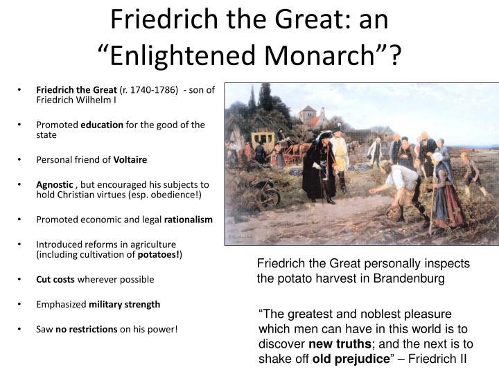 """Friedrich the Great: an """"Enlightened Monarch""""?"""