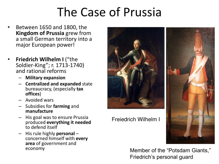The Case of Prussia