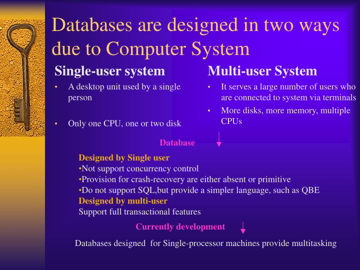 Databases are designed in two ways due to computer system