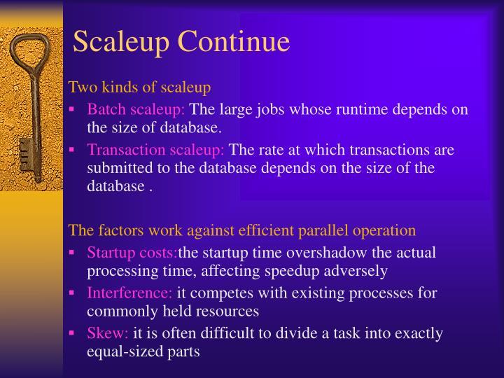 Scaleup Continue