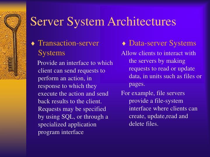 Transaction-server Systems