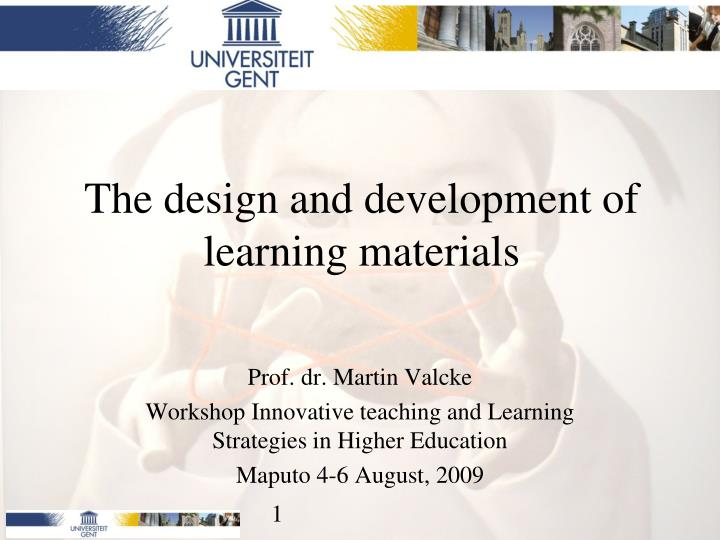 the design and development of learning materials n.