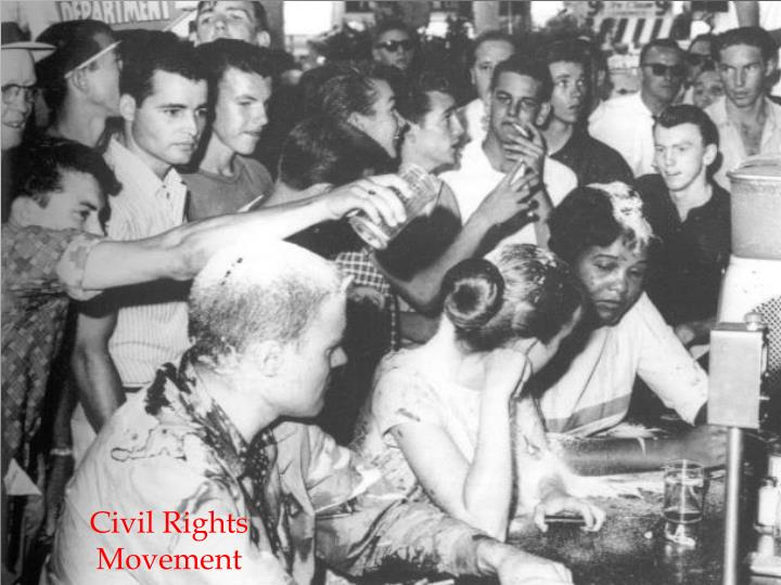the rise of civil rights movement in america in the 1960s • the culmination of the nonviolent civil rights movement in the mid-1960s • the ways in which the vietnam war both reflected and damaged the liberalism of the great society • the great society's inability to deal with the challenges of economic problems, the black power.