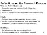 reflections on the research process