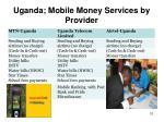 uganda mobile money services by provider