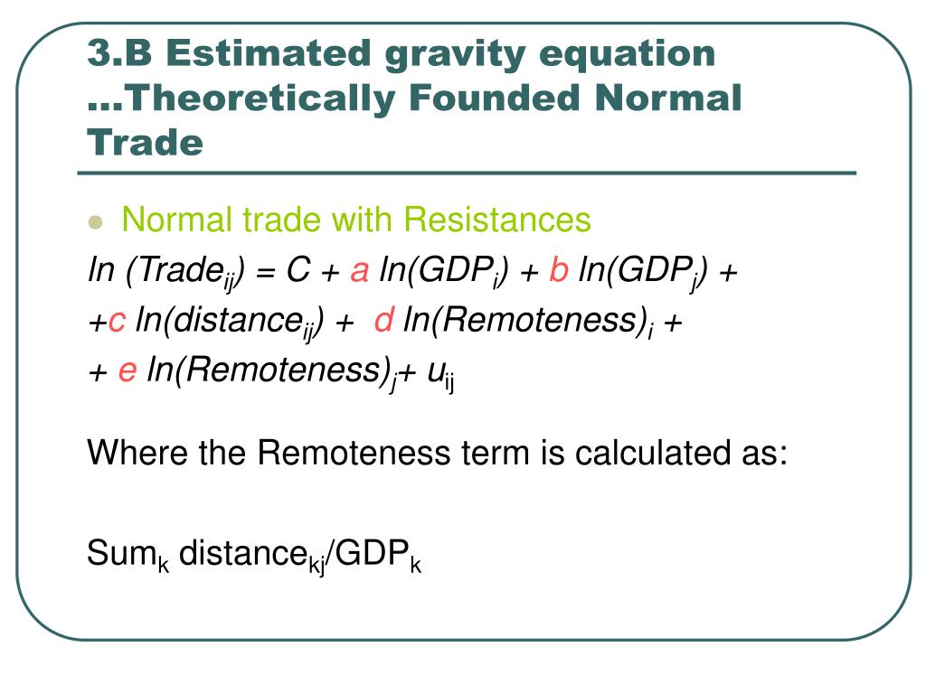 gravity model of trade example