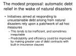 the modest proposal automatic debt relief in the wake of natural disasters