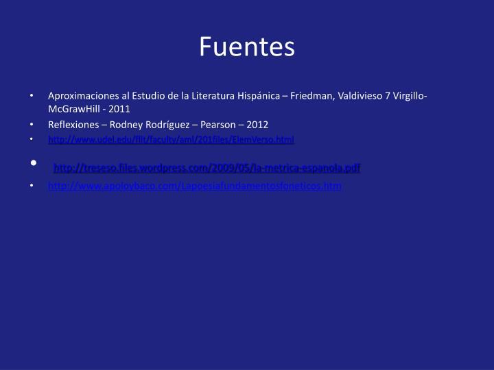 Fuentes
