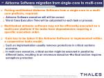 airborne software migration from single core to multi core