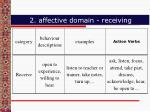 2 affective domain receiving