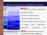 2 bloom s taxonomy affective domain