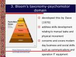 3 bloom s taxonomy psychomotor domain