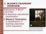 bloom s taxonomy overview