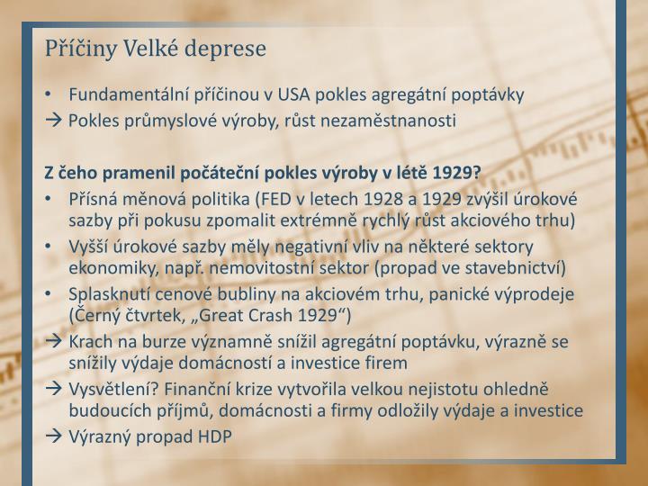 Příčiny Velké deprese