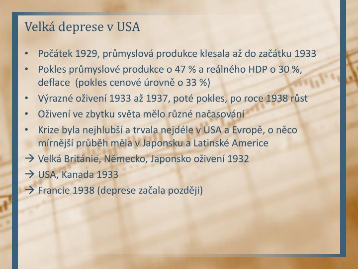 Velká deprese v USA