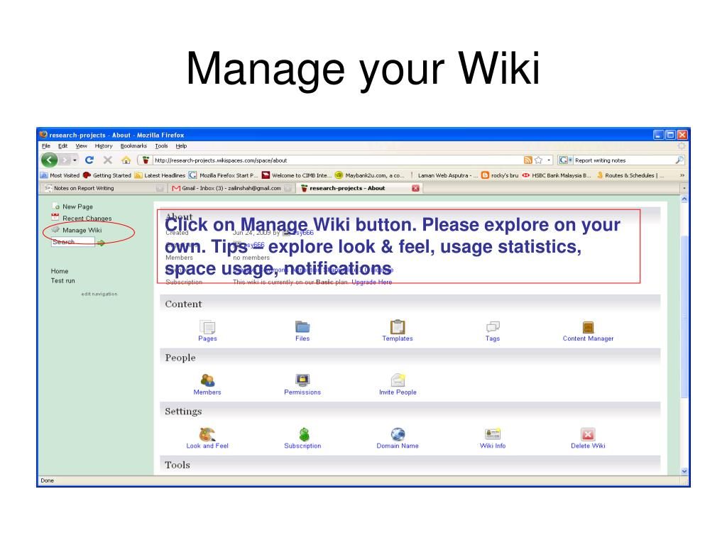 PPT - Wiki Workshop for UHL 2332 Academic Report Writing