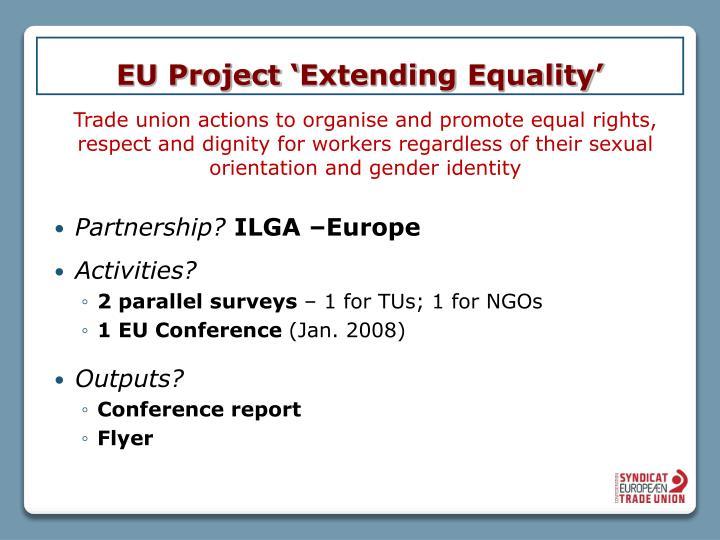 Eu project extending equality