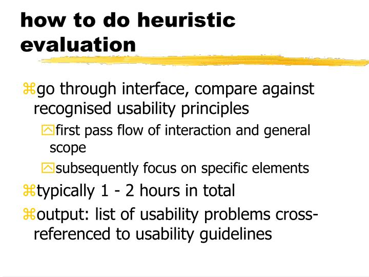how to do heuristic evaluation