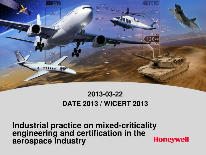 industrial practice on mixed criticality engineering and certification in the aerospace industry n.
