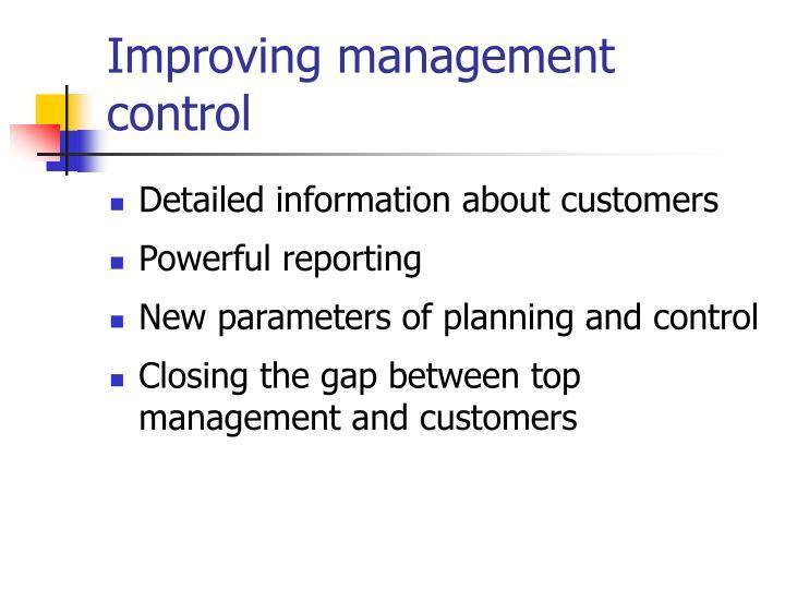 Improving management control