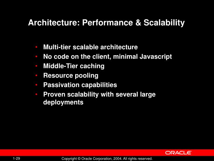 Architecture: Performance & Scalability