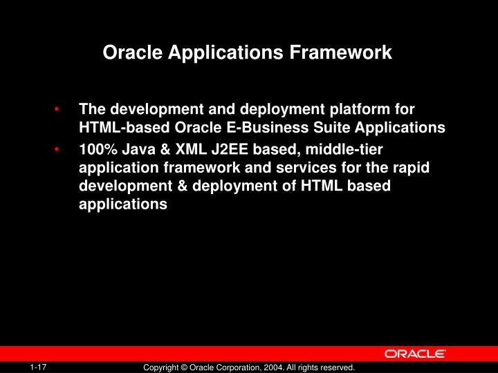 Oracle Applications Framework