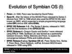 evolution of symbian os i