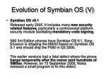 evolution of symbian os v