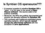 is symbian os opensource