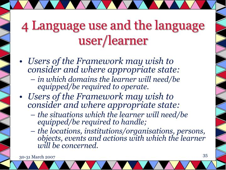 4 Language use and the language user/learner